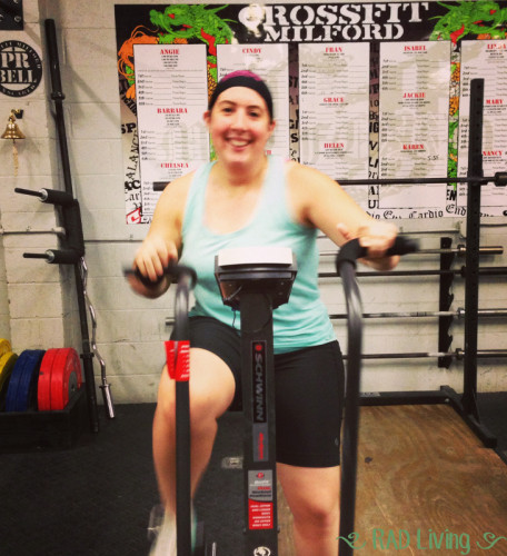 I must be crazy if I'm smiling on an Air Dyne!