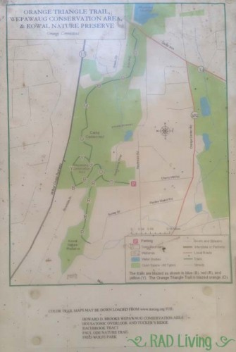 Wepawaug-Conservation-Area-Orange-CT-Trail-Map