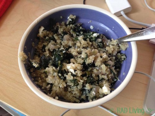 Robert-Treat-2014-CSA-Week3-Sarah-Greens-Quinoa